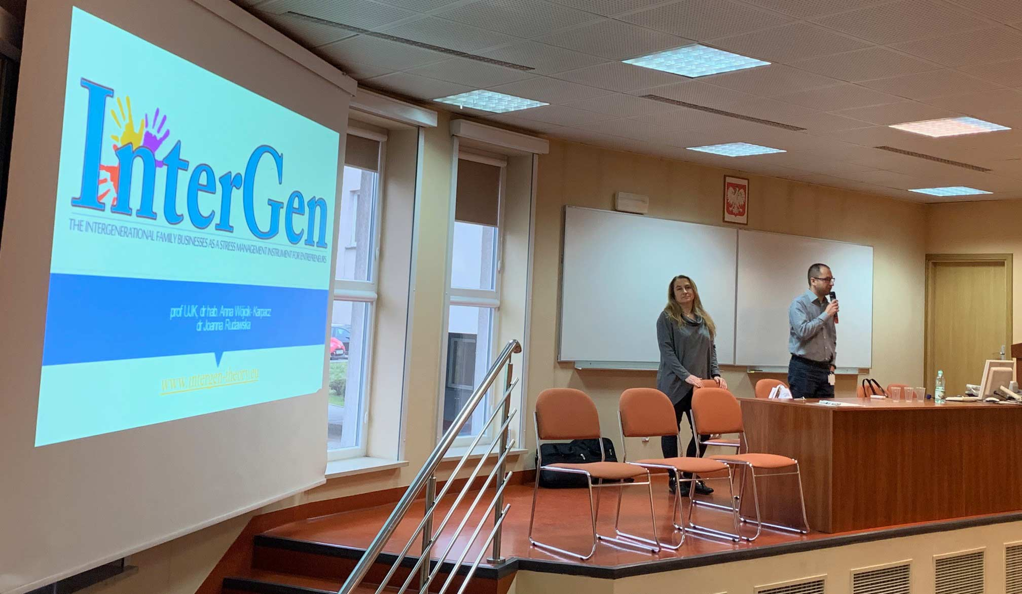 a seminar for students presenting the first INTERGEN project results was organized at the Jan Kochanowski University in Kielce, Poland